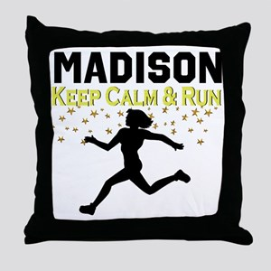 I LOVE RUNNING Throw Pillow