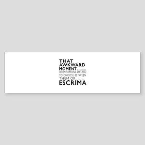 Escrima Awkward Moment Designs Sticker (Bumper)