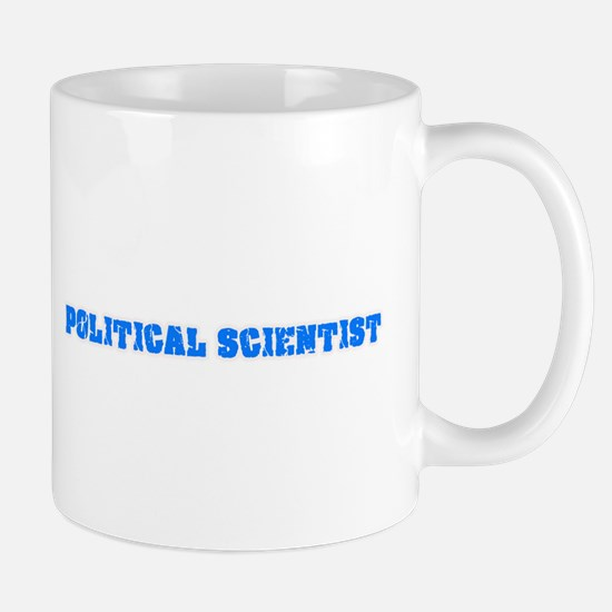 Political Scientist Blue Bold Design Mugs