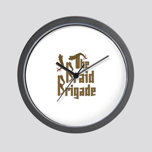 Braid Brigade Wall Clock