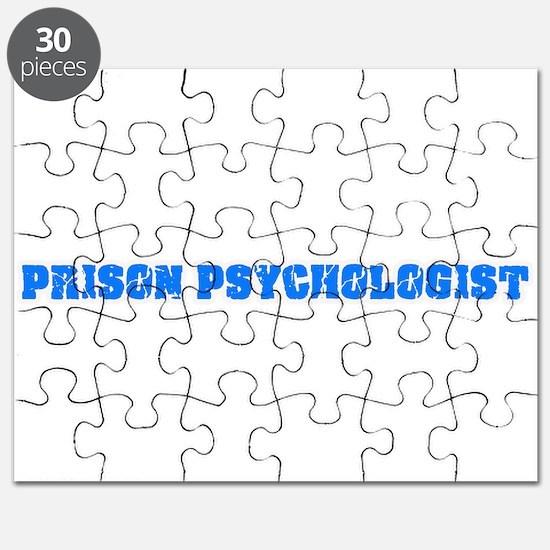 Prison Psychologist Blue Bold Design Puzzle