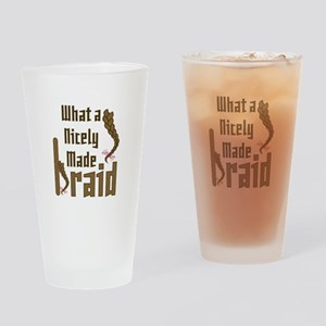 Nicely Made Braid Drinking Glass