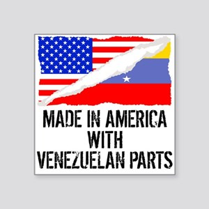 Made In America With Venezuelan Parts Sticker