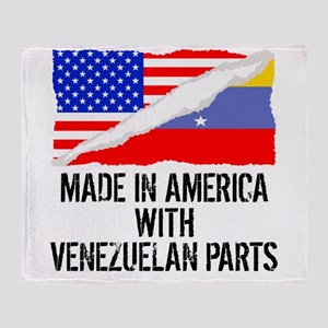 Made In America With Venezuelan Parts Throw Blanke