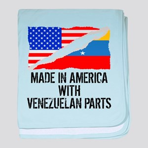 Made In America With Venezuelan Parts baby blanket