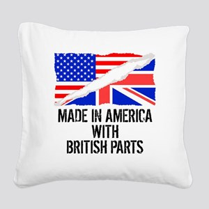 Made In America With British Parts Square Canvas P