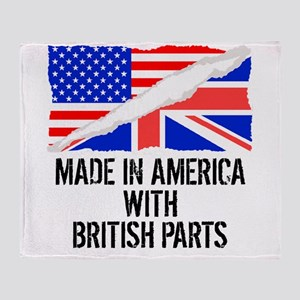 Made In America With British Parts Throw Blanket