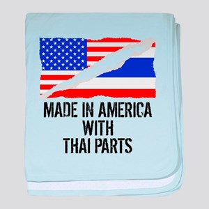 Made In America With Thai Parts baby blanket