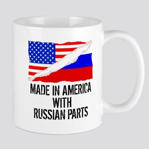 Made In America With Russian Parts Mugs
