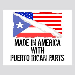 Made In America With Puerto Rican Parts Posters