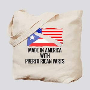 Made In America With Puerto Rican Parts Tote Bag