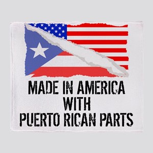 Made In America With Puerto Rican Parts Throw Blan