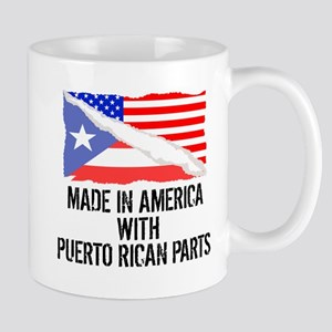 Made In America With Puerto Rican Parts Mugs