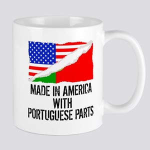 Made In America With Portuguese Parts Mugs