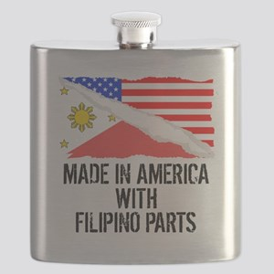 Made In America With Filipino Parts Flask