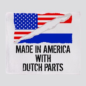 Made In America With Dutch Parts Throw Blanket