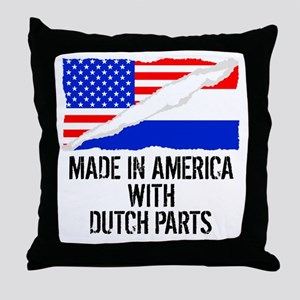 Made In America With Dutch Parts Throw Pillow