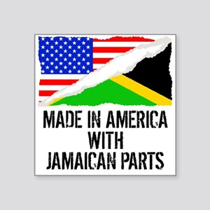 Made In America With Jamaican Parts Sticker