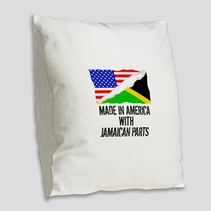 Made In America With Jamaican Parts Burlap Throw P