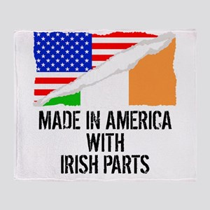Made In America With Irish Parts Throw Blanket