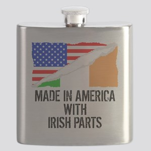 Made In America With Irish Parts Flask