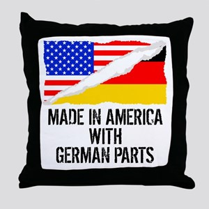 Made In America With German Parts Throw Pillow