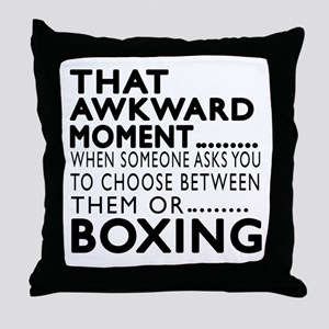 Boxing Awkward Moment Designs Throw Pillow
