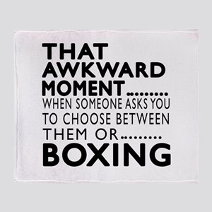 Boxing Awkward Moment Designs Throw Blanket