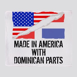 Made In America With Dominican Parts Throw Blanket