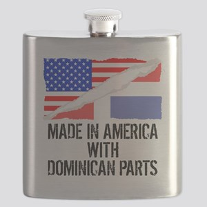 Made In America With Dominican Parts Flask
