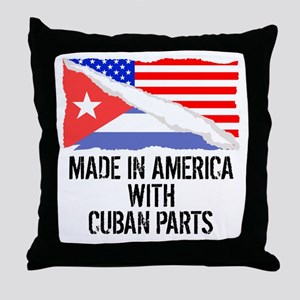 Made In America With Cuban Parts Throw Pillow