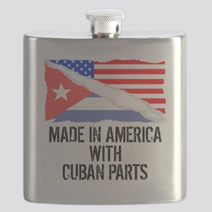 Made In America With Cuban Parts Flask