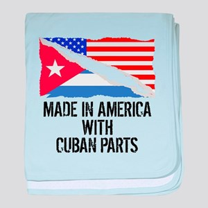 Made In America With Cuban Parts baby blanket