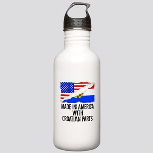 Made In America With Croatian Parts Water Bottle