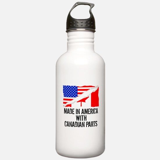 Made In America With Canadian Parts Water Bottle