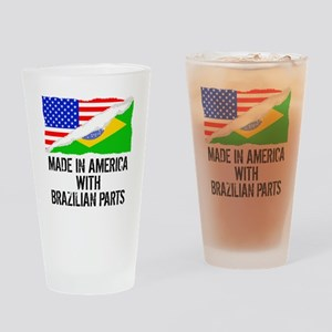 Made In America With Brazilian Parts Drinking Glas