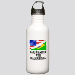 Made In America With Brazilian Parts Water Bottle