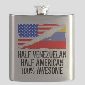 Half Venezuelan Half American Awesome Flask