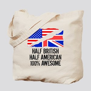 Half British Half American Awesome Tote Bag