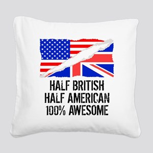 Half British Half American Awesome Square Canvas P