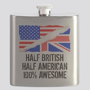 Half British Half American Awesome Flask