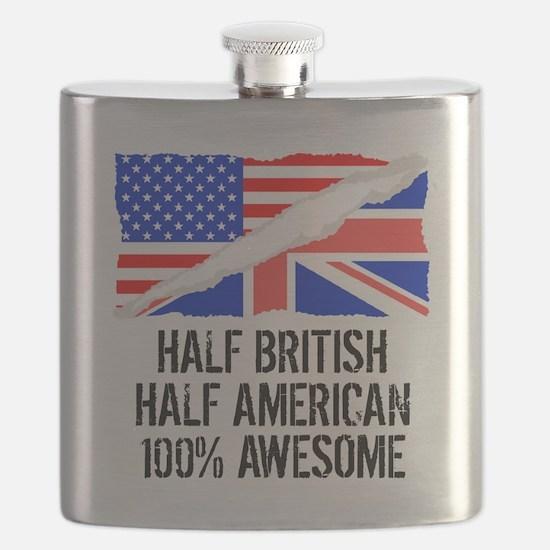 Half British Half American Awesome Flask