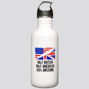 Half British Half American Awesome Water Bottle