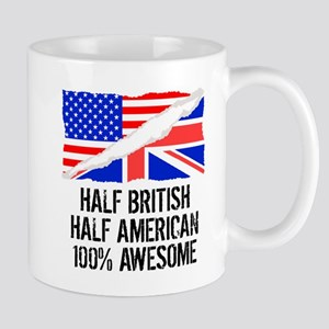 Half British Half American Awesome Mugs