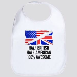 Half British Half American Awesome Bib