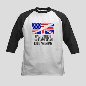 Half British Half American Awesome Baseball Jersey