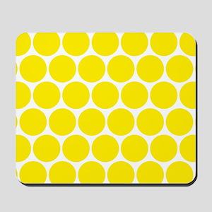 Retro Yellow Polka Dots Pattern Mousepad