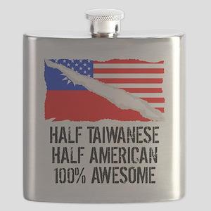 Half Taiwanese Half American Awesome Flask