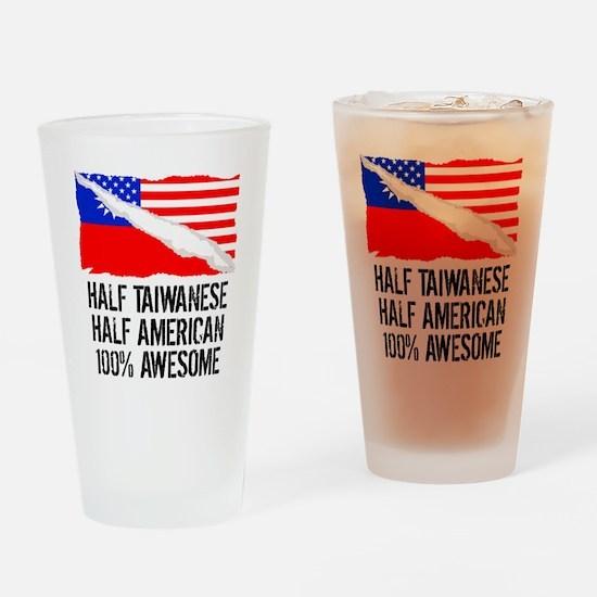 Half Taiwanese Half American Awesome Drinking Glas