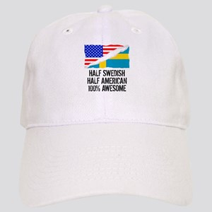 Half Swedish Half American Awesome Baseball Cap